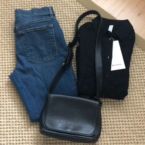 Coach black Pebbled Leather Mini Shoulder Bag